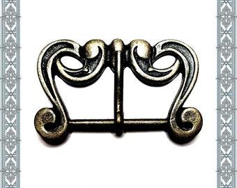 4 pieces SIGRUN - SCHNALLE Old Brass Buckle Belt Buckle Belt Buckle Buckle Buckle / 4 Buckles Antique brass plated Beltbuckle