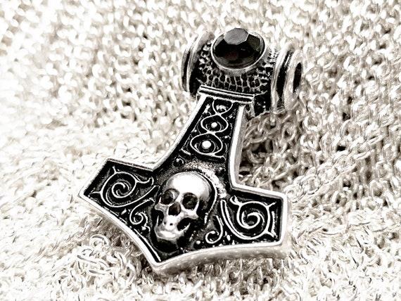 Thor Hammer remolque rey cadena Mjolnir martillo de plata negro Thor Hammer