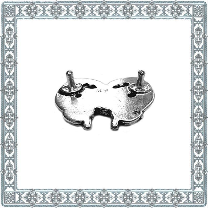 6 decorative rivets DRAGONHEART red silver plated dragon rivet Germanic accessories Nordic rivets Rivet ANTIK accessory LARP Conchos