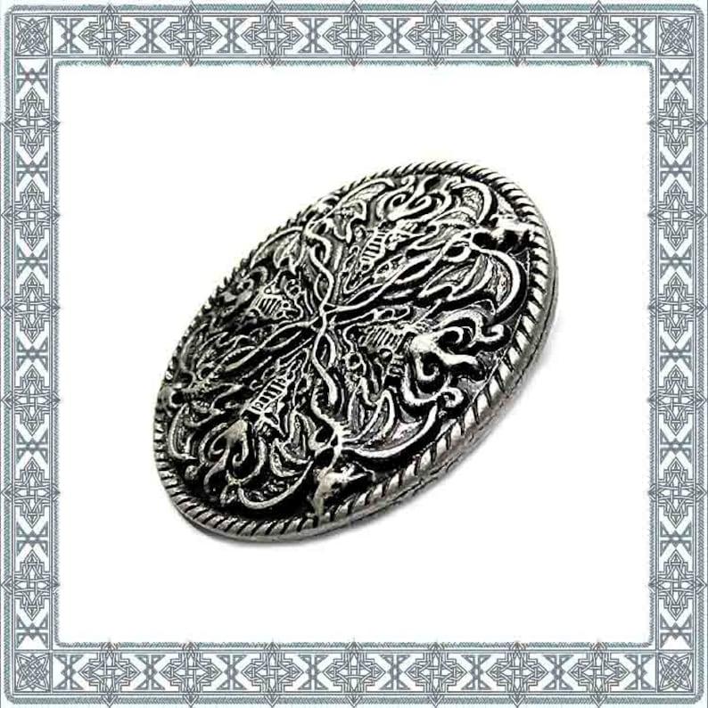 6 Ornamental Rivets NORTHERN DRACHE Old Silver Rivet Seamed Dragon Rivets Medieval Armory Rivet ANTIK Accessories Belt Conchos