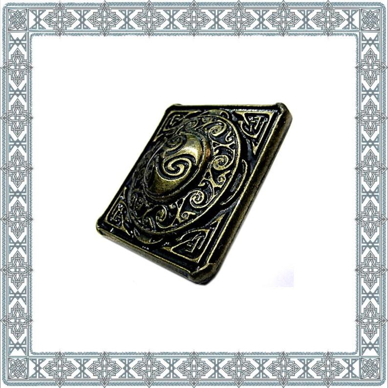 6 Decorative Rivets Celtic Square Antique brass Celtic Triskel rivets  Zierniete fittings rivets Trinity Concho Belts Antiques Accessories