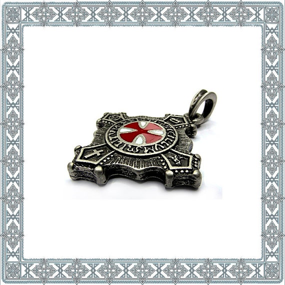 7a7faca4e72 Pendentifs Templiers vieilli argent bijoux religieux Knight