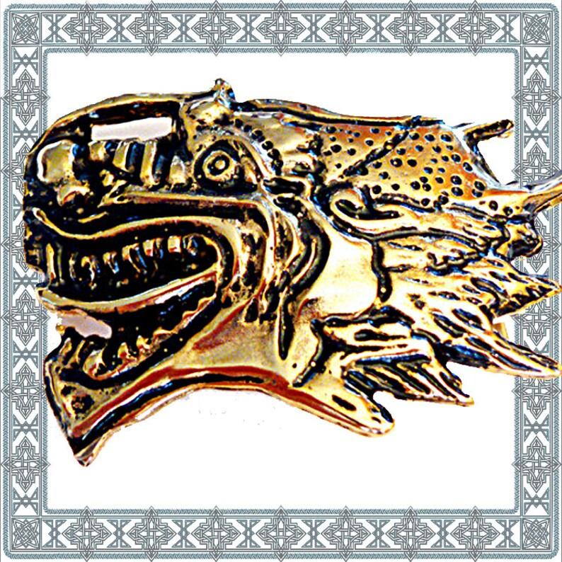 179b22f7b026c DRAGONHEAD Buckle gold Dragon Dragon head buckle clasp buckle