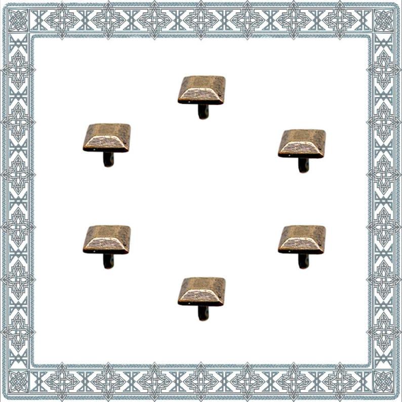 20|40|60 Decorative rivets TRAPEZSTUMPF Old Brass Rivet Armor fitting Accessories LARP Gewandschneider Rivets Dog collar ancient Rivet Conchos