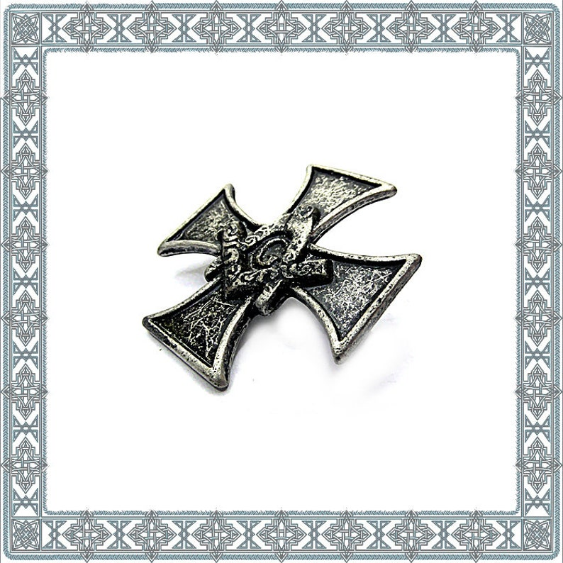 Conchos 6 Ornamental Rivets FREE MASONC CROSS Old Silver Stud Seaming Lodges Cross Rivets Rivet Ritual Conspiraturous Covenant Accessories Accessory
