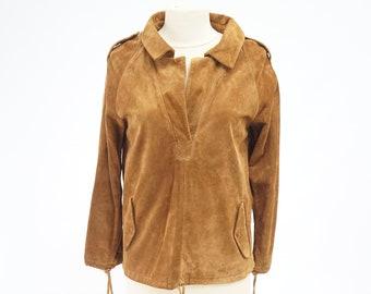 Brown suede shirt