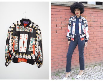 80s 90s RARE Moschino Jacket Whimsical Floral Print Moschino Jeans Jacket90s Moschino Peace Multicolor Flowers Motif Made in Italy Jacket