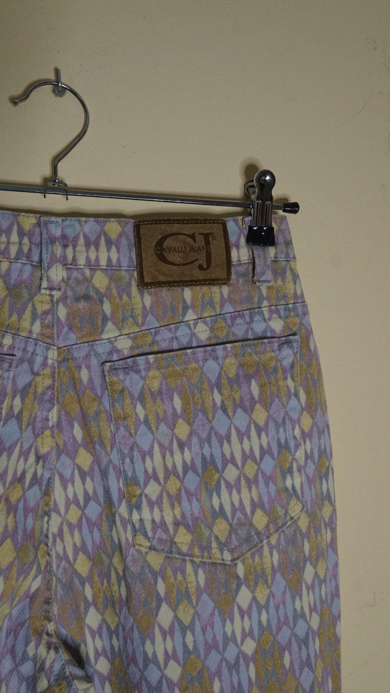 Cavalli Jeans Harlequin print jeans  US 30  FR 40  US 10