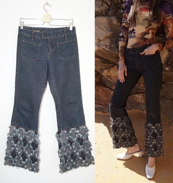 Jean Paul Gaultier patchwork jeans / US 27 /