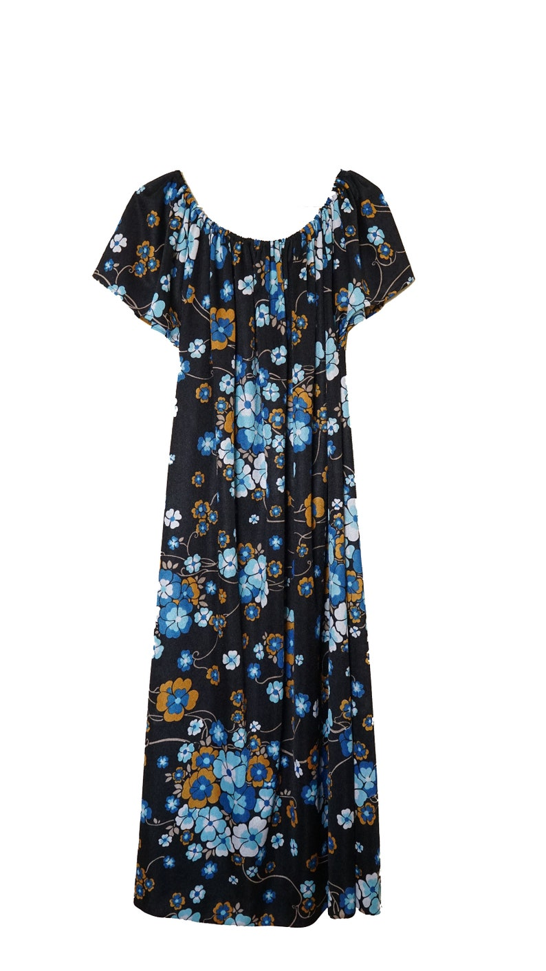 1970/'s floral print summer dress  One size