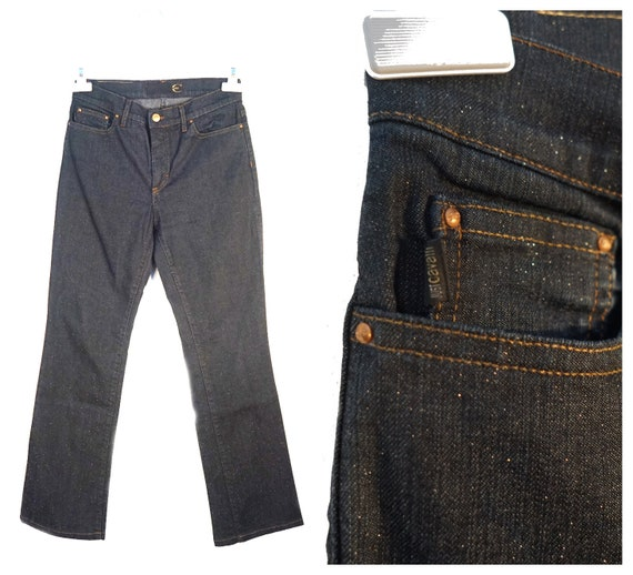 Just Cavalli Y2K raw denim with glitters all over