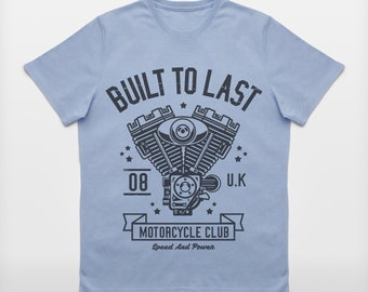 Men's 'Built To Last' Motorcycle Enthusiast T-Shirt