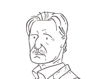 Liam Neeson | Letterpress Print