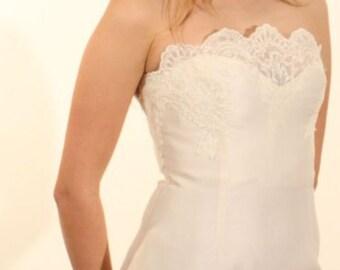 "Wedding Dress ""Sarli brides"" in silk organza size 40"