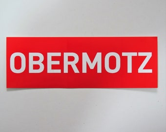 Obermotz - Sticker, red