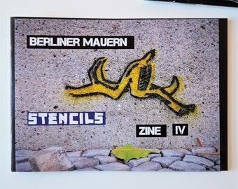 Berliner Mauern Zine - Stencils | A6 | Streetart Photo-Zine | colored