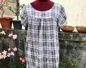 Vintage Scottish dress Size.XL Free Shipping Cute Dress minimalist retro style