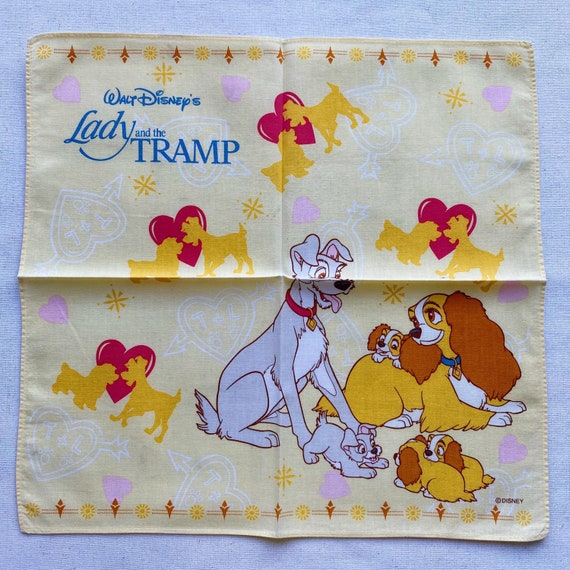 Vintage lady and the tramp handkerchief