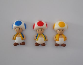 Super Mario Toad handmade polymer clay magnet