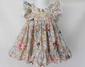 Baby Girl Cotton Dress Set in Disney Princess