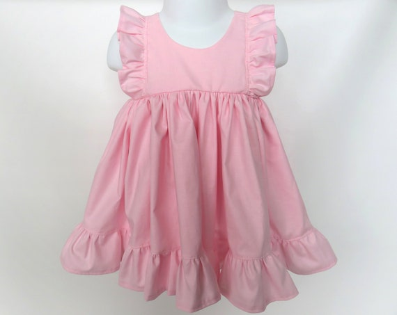 Baby Girl Cotton Dress in Pink