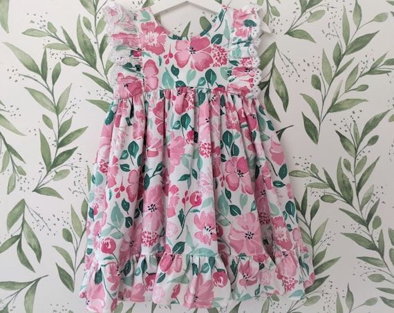 Girls' Dress in Pink Floral