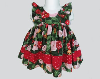 Holiday Floral Ruffle Baby Set
