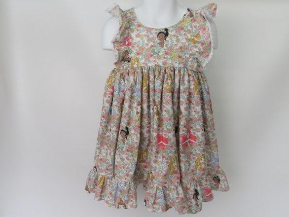 Girls' Cotton Dress in Disney Princess