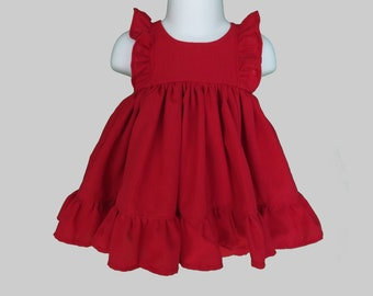 Holiday Red Ruffle Baby Set