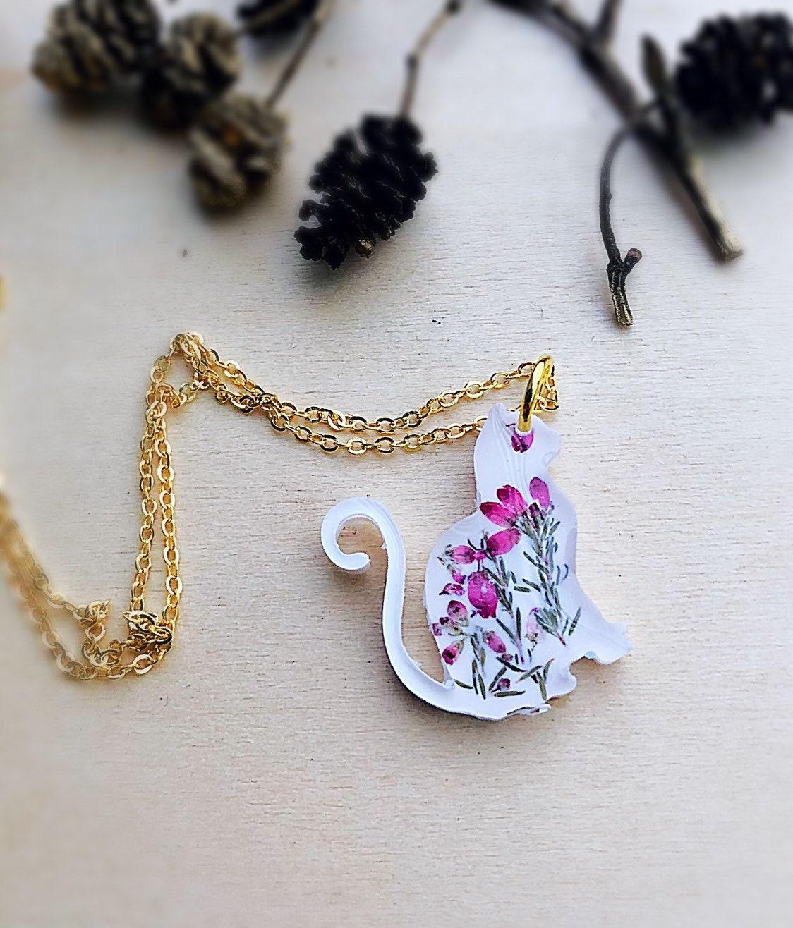 Handmade from resin Royal Kitten Necklace