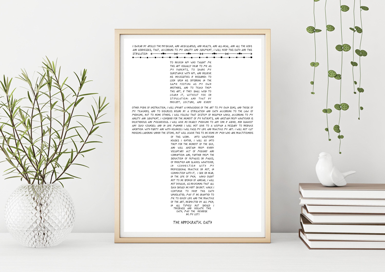 Hippocratic Oath Cross Christian Art Doctor Gift MD Graduation Print Gift  Medical Medicine Physician Oath Byzantine DOWNLOADABLE