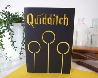 Card Harry Potter, Quidditch, paper cut