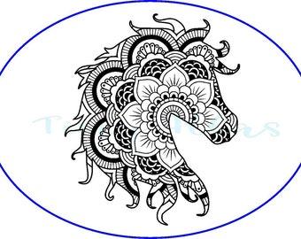Mandala Horse Decal