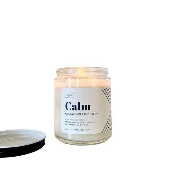 Calm (Pure Lavender Essential Oil) 8 oz or 4 oz Candle