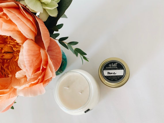 Bug-Repelling Pure Lemon, Lavender, Rosemary & Peppermint therapeutic grade essential oil Soy candle