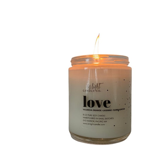 Love 8oz or 4oz Pure Soy Candle - perfect for Valentine's or Galentine's