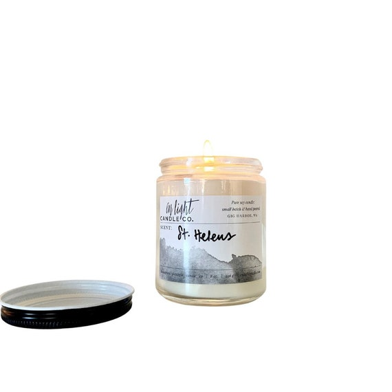 St. Helens Pure Soy 8oz or 4oz Candle Jar with Metal Lid