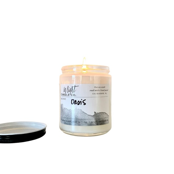 Oasis (lime, citron & coconut) - 8 oz pure soy hand poured candle