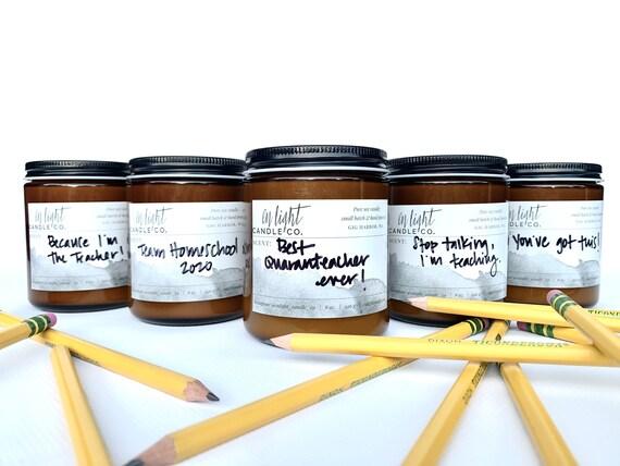 Customizable Homeschool Teacher 8oz Candle
