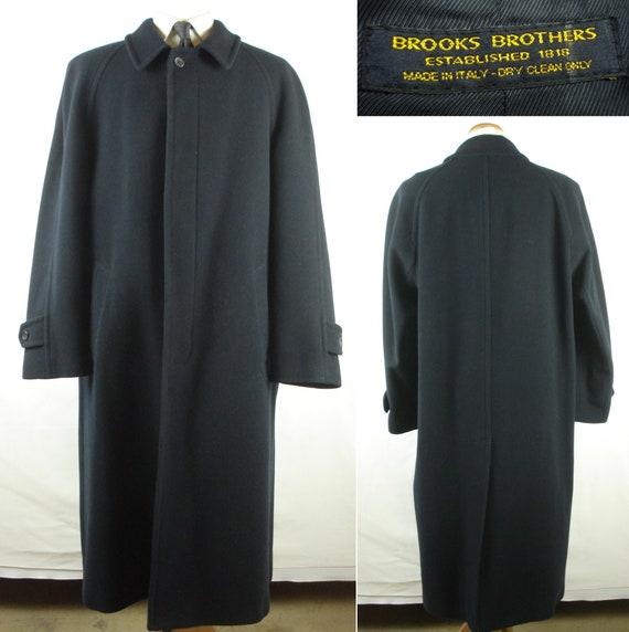 44R Brooks Brothers Wool Overcoat Top Coat Men's W