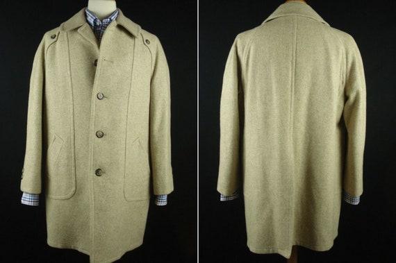 Vintage 70s Botany Blanket Lined Overcoat Top Coat