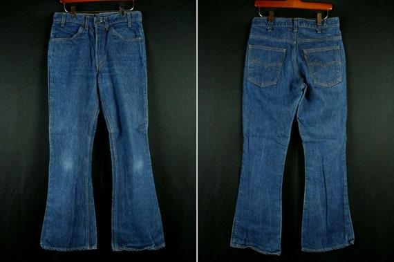 34 x 29.5 Levi/'s 646 Big E Bell Bottom Denim Jeans Vintage 70s Original Made in USA