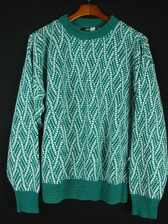 Vintage Women's Jantzen Green White Diagonal Plaid