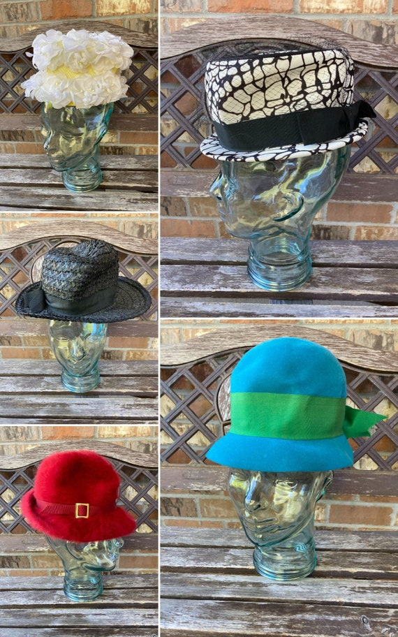 Lot of 5 Vintage hat 30s 40s 50s