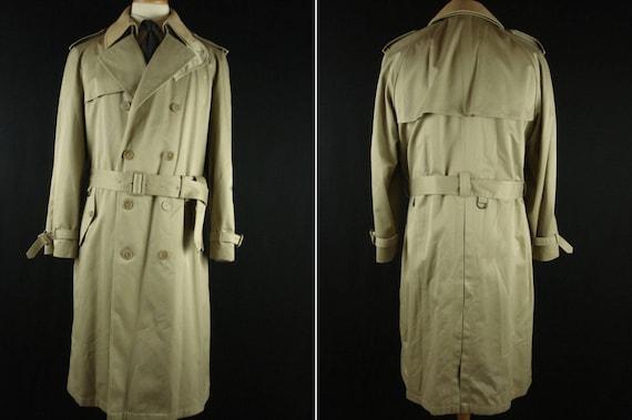 Vintage 70s Silver Cloud Trench Coat Men's Winter