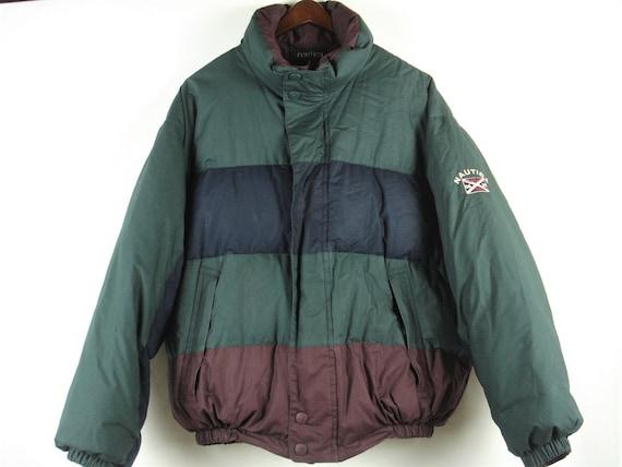 Vintage 90s Nautica Highland Glen Color Block Down