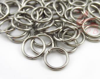 50//100pcs 10mm Silver plated lead nickel safe open jump rings jewellery findings