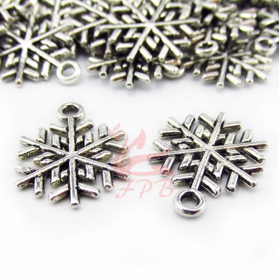 200//500 x Silver Plated 7mm Lovely Snowflake Flower Spacer Beads