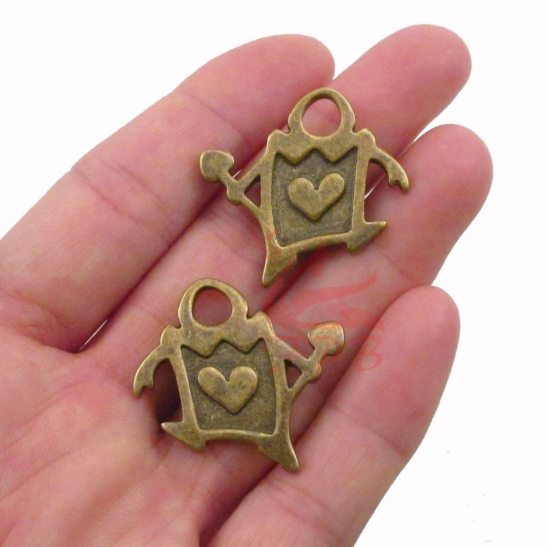 2 Alice In Wonderland Playing Card Charms 29mm Wholesale Antiqued Bronze Pendants BC0085816