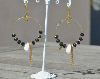 Creole earrings gold